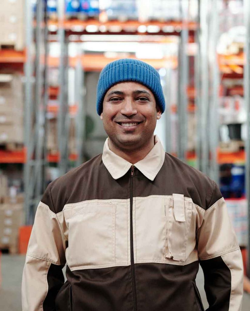 Portrait of a warehouse worker